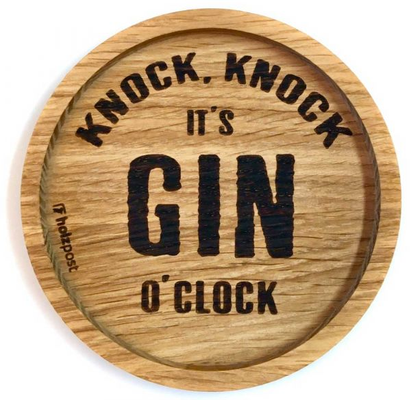 Holz Untersetzer It's Gin o'clock