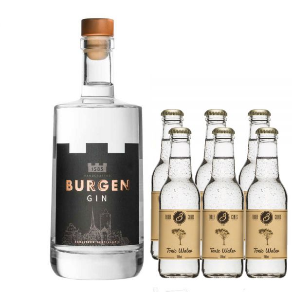 Burgen Gin & 3Cents Tonic Set